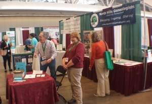 North Hills Genealogists booth at FGS 2017 conference